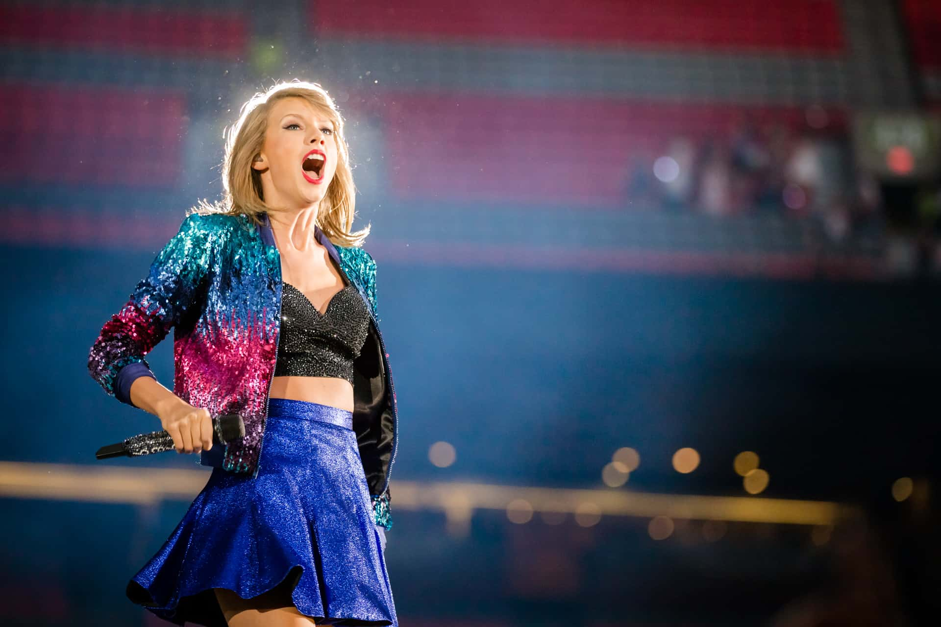 Taylor Swift performing at BC Place in Vancouver, BC on August 1st 2015, The 1989 World Tour, taken by Jamie Taylor