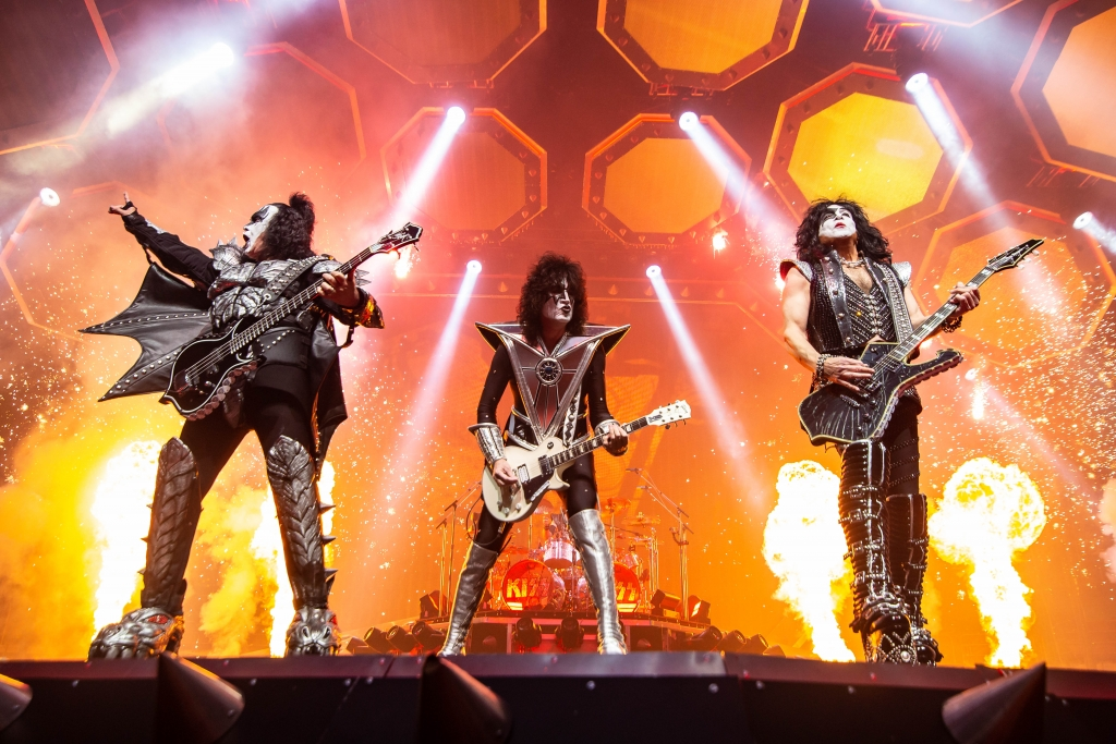 KISS performing at Rogers Arena in Vancouver, BC on January 31st 2019