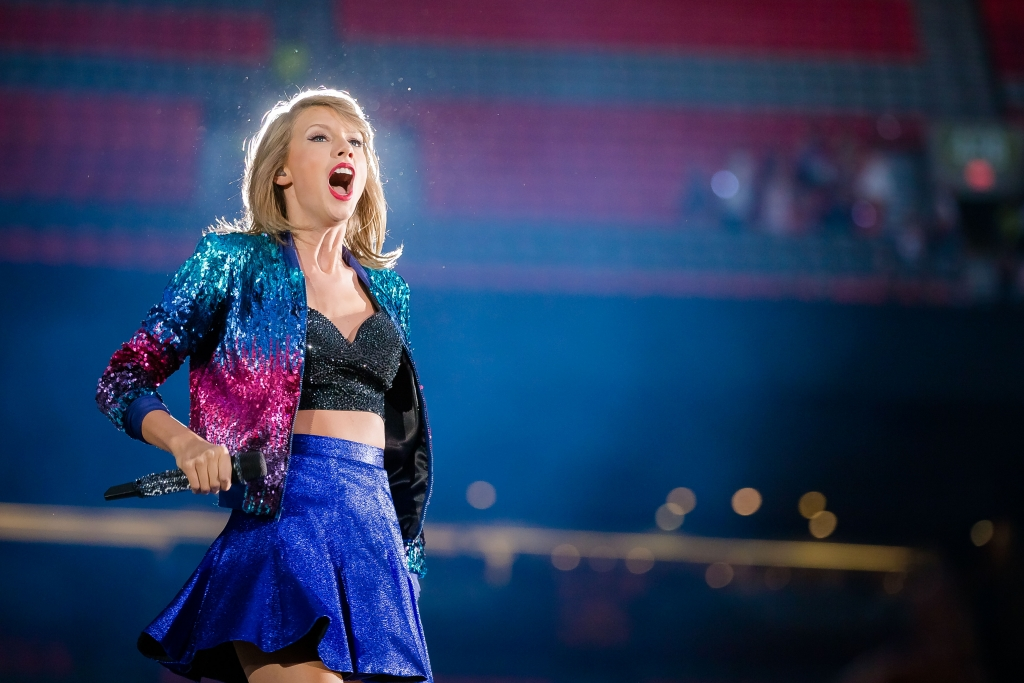 American musician Taylor Swift performing at BC Place in Vancouver, BC on August 1st 2015